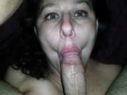 Blow job fun getting a mouth full of erect big penis