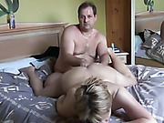 Hot mature wife drinking cum after riding cowgirl