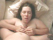 Chubby brunette gives head to dominant tattooed stud in pov